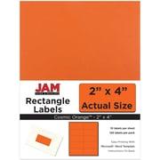 JAM Paper® Mailing Address Labels, 2 x 4, Orange, 120/pack (302725784)