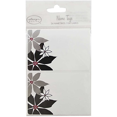 JAM Paper® Name Tag Gift Label Stickers, 2.25 x 3.5, Flowers, 24/pack (2167213411)