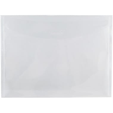 JAM Paper® Plastic Envelopes with Tuck Flap Closure, Letter Booklet, 8 7/8 x 12, Clear Poly, 12/Pack (459SCLEAR)