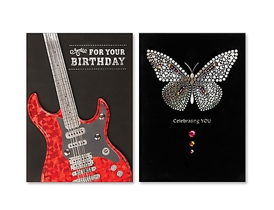 Viabella, Butterfly and Guitar Birthday Asst, Birthday, 5