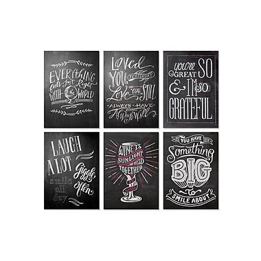 Viabella Chalkboard Designs Assortment, Assorted, 5