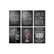 "Viabella Chalkboard Designs Assortment, Assorted, 5"" x 7"", 6/Pack"