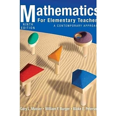 Mathematics for Elementary Teachers: A Contemporary Approach 9th Edition with Student Activitiy Manual Set, Used Book