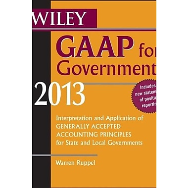 Wiley GAAP for Governments 2013, Used Book