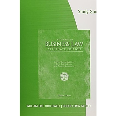 Study Guide for Miller/Cross' Business Law, Alternate Edition 12th Used Book (9781133188674)