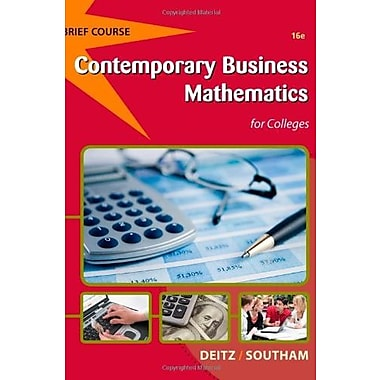Contemporary Business Mathematics for Colleges, Brief (with Printed Access Card) Used Book (9781133191148)