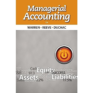 Bundle: Managerial Accounting, 12th + CengageNOW Printed Access Card Used Book (9781133284833)