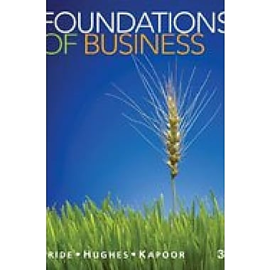 Bundle: Foundations of Business, 3rd + Cengagenow Printed Access Card 3rd Used Book (9781133288756)