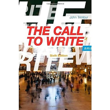 The Call to Write, Brief Used Book (9781133311157)