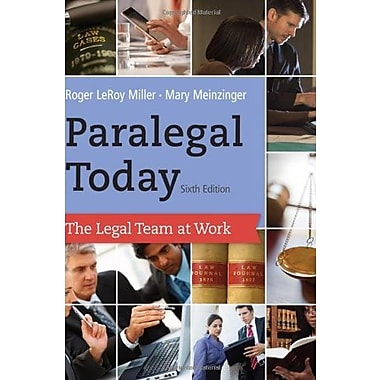 Paralegal Today: The Legal Team at Work Used Book (9781133591078)
