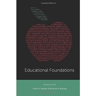Educational Foundations Used Book (9781133603092)