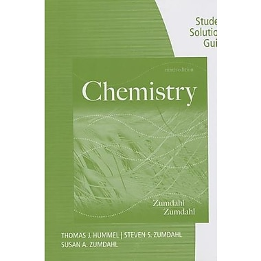 Student Solutions Guide for Zumdahl/Zumdahl's Chemistry Used Book (9781133611998)