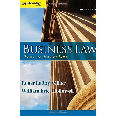 Cengage Advantage Books: Business Law: Text and Exercises Used Book (9781133625957)
