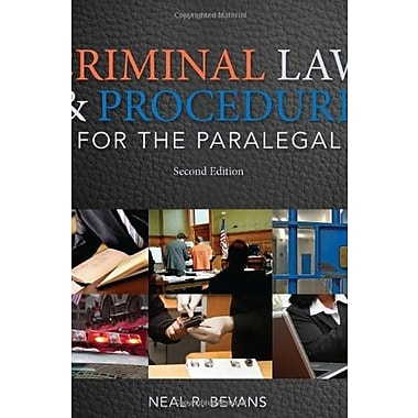 Criminal Law and Procedure for the Paralegal Used Book (9781133693581)