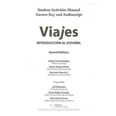 SAM Answer Key & Audio Script for Hershberger/Navey-Davis/Borr s A.'s Viajes: Introduccion al espanol, 2nd, Used Book