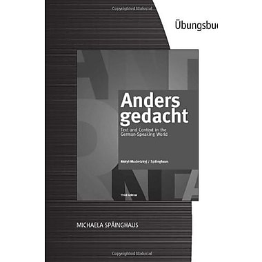 Student Activities Manual for Motyl-Mudretzkyj/Sp inghaus' Anders gedacht, Used Book