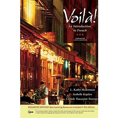 Voila! An Introduction to French, Enhanced (with Audio CD) Used Book (9781133950127)