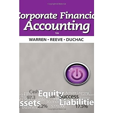 Corporate Financial Accounting Used Book (9781133952411)