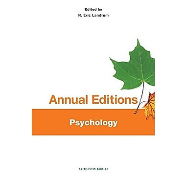 Annual Editions: Psychology, 45/e, Used Book (9781259153310)