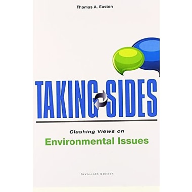 Taking Sides: Clashing Views on Environmental Issues, New Book (9781259161131)