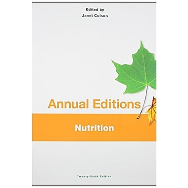 Annual Editions: Nutrition, 26/e, Used Book (9781259168048)