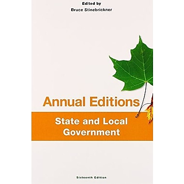 Annual Editions: State and Local Government, 16/e, New Book (9781259175442)