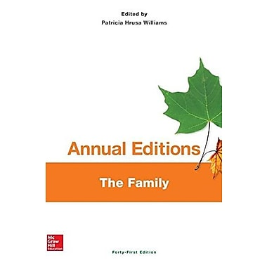 Annual Editions: The Family, 41/e, Used Book (9781259181757)