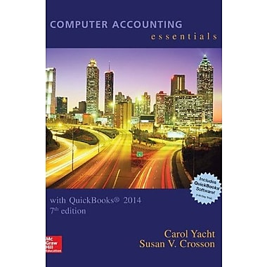 Computer Accounting Essentials Using Quickbooks 2014 with Software CD, New Book (9781259277375)