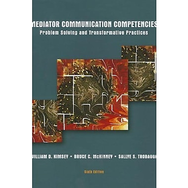 Mediator Communication Competencies (6th Edition), New Book (9781269135818)