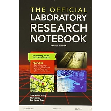 The Official Laboratory Research Notebook (50 duplicate sets), New Book (9781284029604)