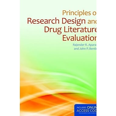 Principles Of Research Design And Drug Literature Evaluation (9781284038798)