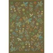 Martha Stewart Rugs Grove Twig Green Floral Area Rug; 8'6'' x 11'6''