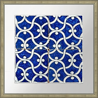 Melissa Van Hise Garden Vine in Cobalt Tiles I Framed Graphic Art
