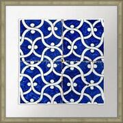 Melissa Van Hise Garden Vine Cobalt Tiles II Framed Graphic Art