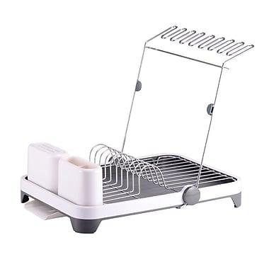Hopeful Enterprise Deluxe Multi-Function Dish rack; White/Gray