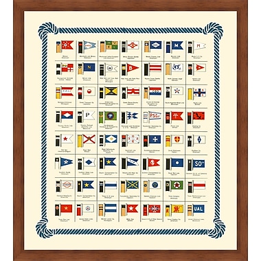 Melissa Van Hise Nautical Flags and Ship Stacks Framed Graphic Art