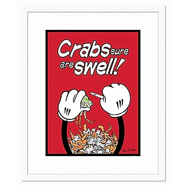 Melissa Van Hise Crabs Sure are Swell by Ramon Matheu Framed Graphic Art