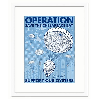 Melissa Van Hise Operation Save the Bay by Ramon Matheu Framed Graphic Art