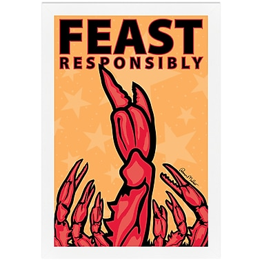 Melissa Van Hise Feast Reponsibly by Ramon Matheu Framed Graphic Art