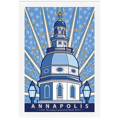 Melissa Van Hise Annapolis- Sailing Capital of the World by Ramon Matheu Framed Graphic Art