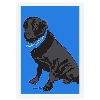 Melissa Van Hise Dog by Ramon Matheu Framed Graphic Art
