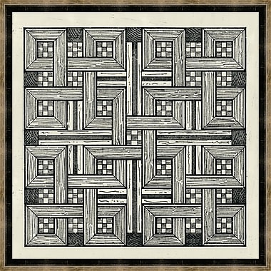 Melissa Van Hise Woodblocks II Framed Graphic Art
