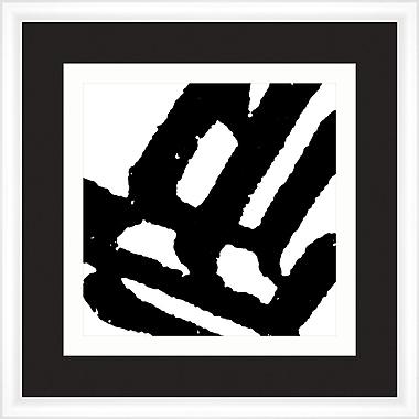 Melissa Van Hise Symbols in Black and White II Framed Graphic Art