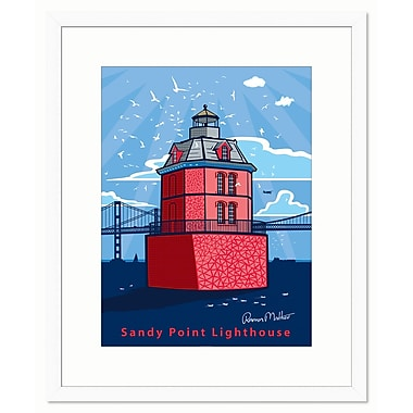 Melissa Van Hise Sandy Point Lighthouse by Ramon Matheu Framed Graphic Art