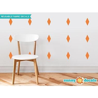 Sunny Decals Diamond Fabric Wall Decal (Set of 16); Orange