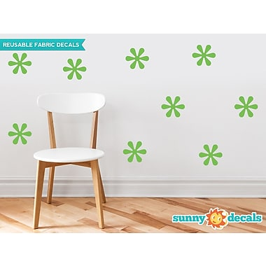 Sunny Decals Flower Fabric Wall Decal (Set of 9); Green