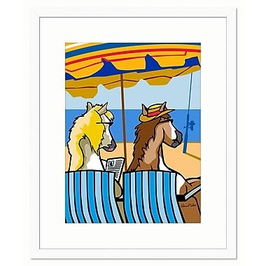 Melissa Van Hise Chincoteague Ponies by Ramon Matheu Framed Graphic Art