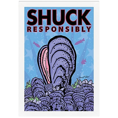 Melissa Van Hise Shuck Responsibly by Ramon Matheu Framed Graphic Art