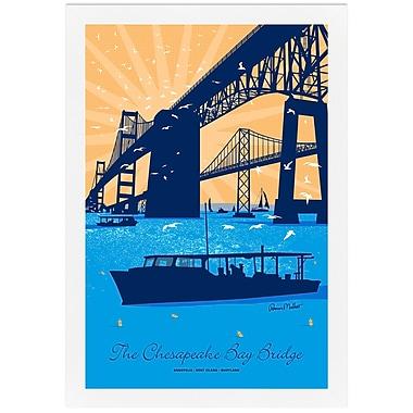Melissa Van Hise Cheaspeake Bay Bridge by Ramon Matheu Framed Graphic Art