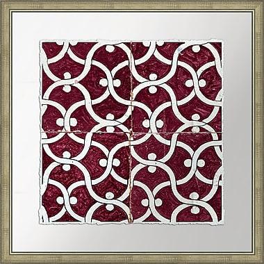 Melissa Van Hise Garden Vine in Marsala Tiles I Framed Graphic Art